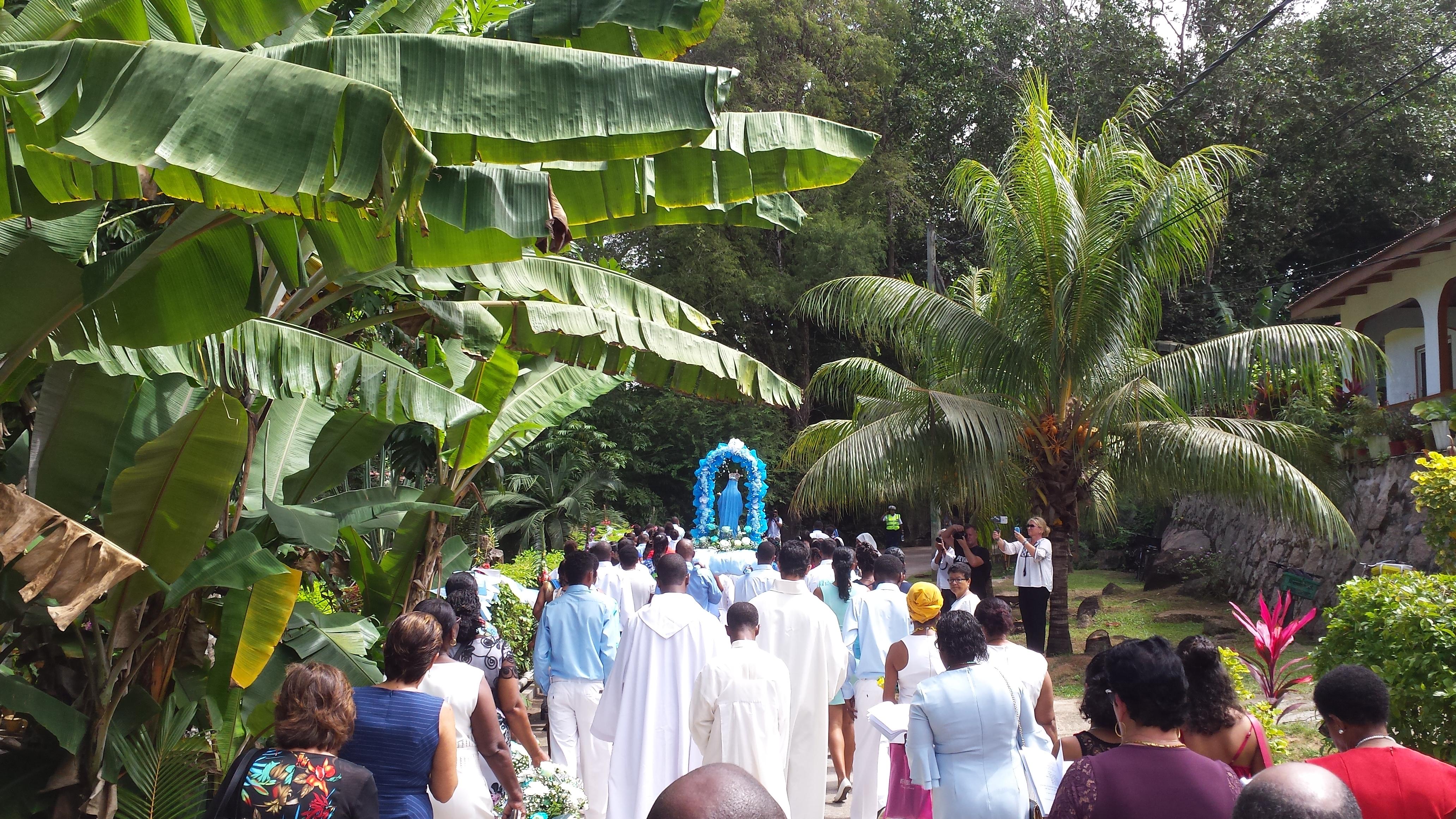 Avec les Équipes des Seychelles, fête de l'Assomption
