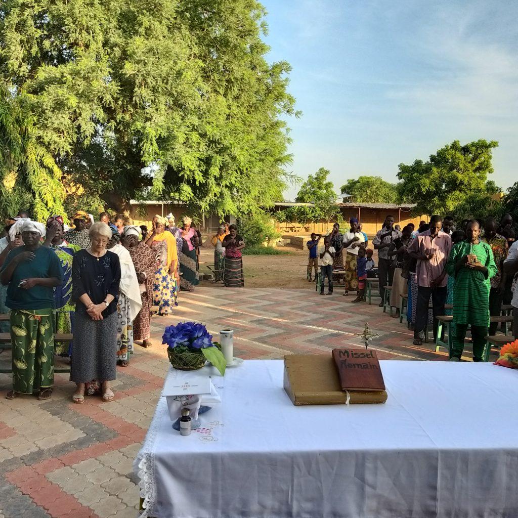 Mass at the Dominican priory - Ouagadougou - Burkina Faso - July 2019